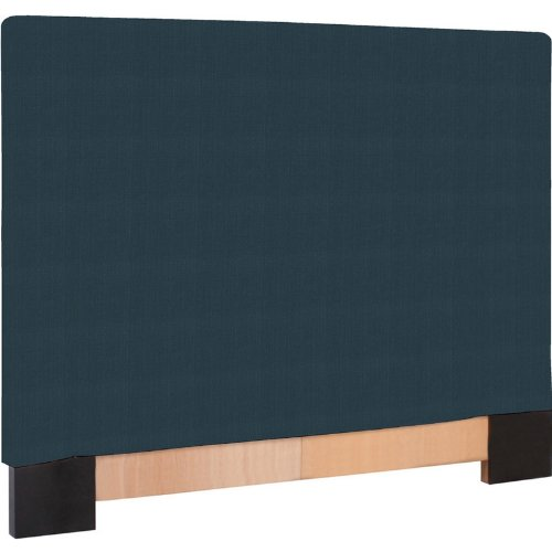 Howard Elliott 124-230 Headboard Slipcover, King, Sterling Indigo