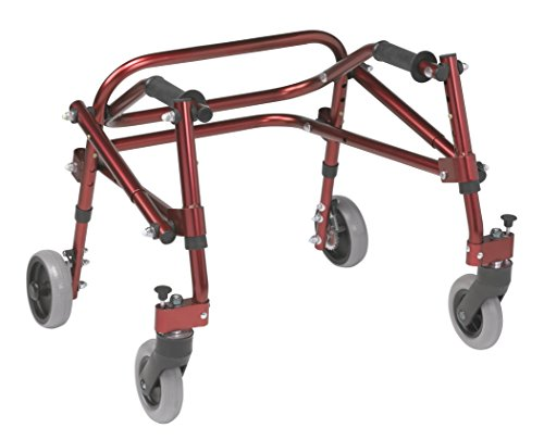 (Inspired by Drive Nimbo 2G Lightweight Posterior Walker, Castle Red, Extra Small)