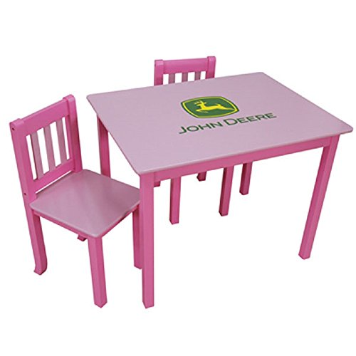John Deere Kids Pink Table and 2 Chairs #LP54380