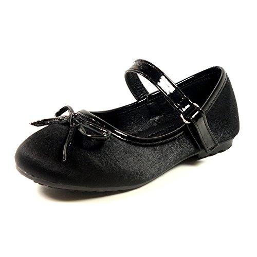 Nova Utopia Toddler Little Girls Ballet Flat Shoes,NF Utopia Girl NFGF311 Black 11 -