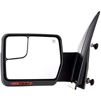 SCITOO Towing Mirrors fit 2007-2014 F-150 Blind Spot Mirror Power Heated Chrome Puddle Signal Double Glass (Driver Side)