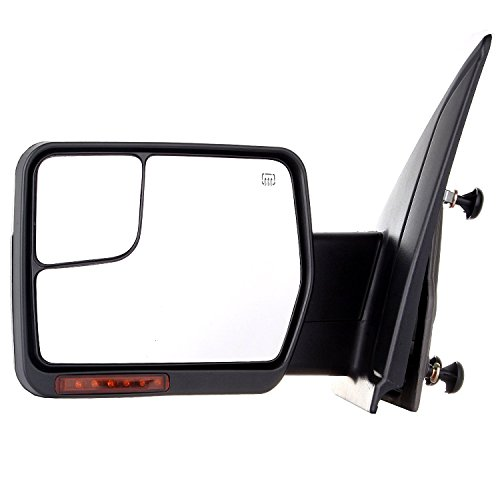 Ford Blind Spot Mirror - Scitoo Towing Mirrors For 2007-2014 F-150 Blind Spot Mirror Power Heated Chrome Puddle Signal Double Glass (Driver Side)