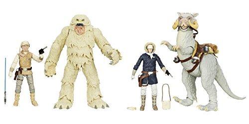 Japan Import Star Wars The Black Series 6 Luke Skywalker and Wampa Figure & 6 Han Solo and Tauntaun Action Figure Bundle