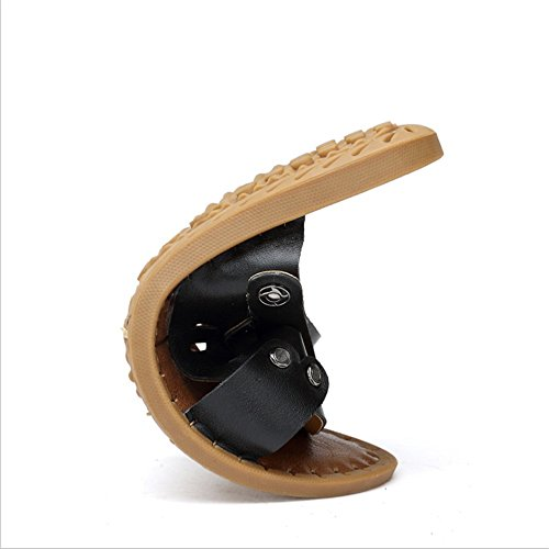 da 3 Tempo Nero 2 40 Libero Nero Da 0 Scarpe Pelle In Sandali EU Il CM Uomo Colore Per 27 Dimensione 24 0 pantofole spiaggia Sandalo Wagsiyi Antiscivolo Aq0nw4UU