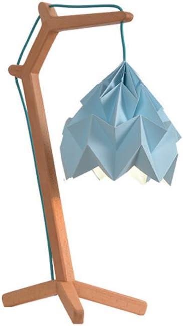WO NICE Lámpara de Mesa Diseño de Origami Soporte de luz de Madera ...