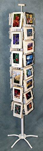 """Photographer's Edge, Floor Spinner Rack, Both Horizontal & Vertical Pockets For 5"""" x 7"""" Cards"""