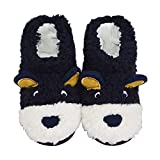 LA PLAGE Boys Indoor/Outdoor Comfy Anti-Slip Plush Low Bootie Slippers 8-9 US Bear