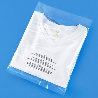 Poly Bag Bundle (100/Size) - 6X9, 8X10, 9X12, 11X14 Self Seal Clear Plastic Bags with Suffocation Warning by Spartan Industrial (More Sizes Available)
