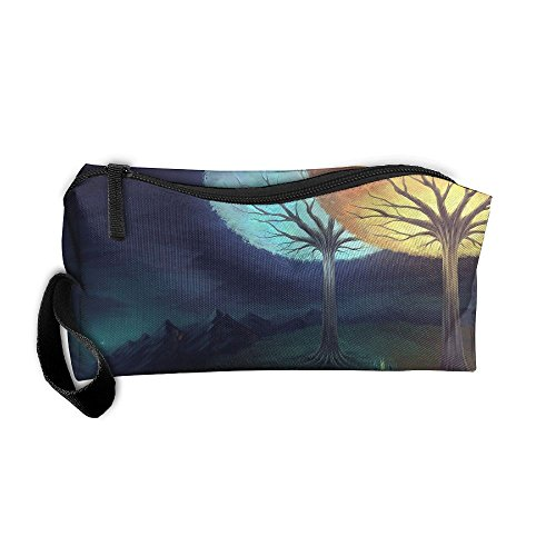 Portable Makeup Cosmetic Storage Bag Appropriate Capacity Organization Pouch With Handle Night Tree - Pa In Shopping Erie