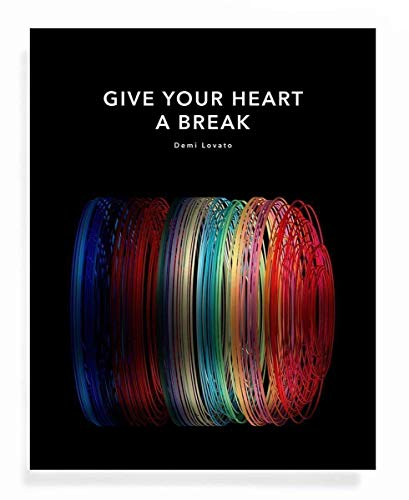 THREAD Soundwave Art Print - Give Your Heart A Break - Motivational Gift for Doctor - 11 x 14 Unframed Quote Art for Demi Lovato Fan or swp 81