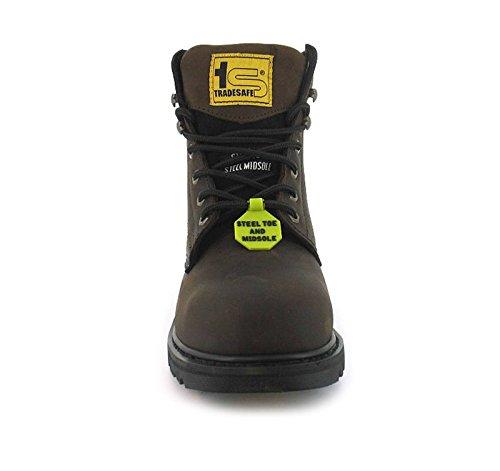 HOMMES coqué 3 UK embout pour Womens chaussures 12 Marron FEMMES tailles brun gqWprg4F