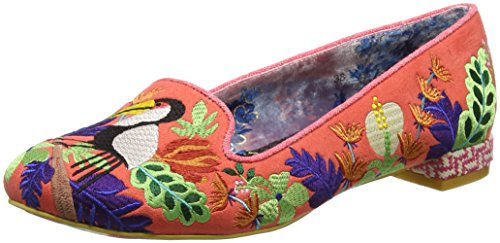 Irregular Choice Yes You Peli Can, Scarpe Col Tacco Punta Chiusa Donna Orange (Orange)
