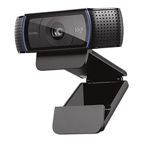 Logitech HD Pro Webcam C920, Widescreen Video Calling and Recording, 1080p Camera,...
