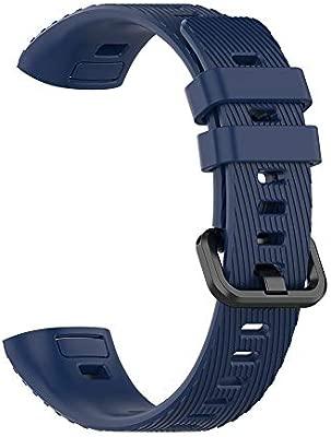 DNelo Correa de Repuesto Color Sólido de Silicona Suave Reloj Smart Watch para Huawei Band 3 Pro - Blanco