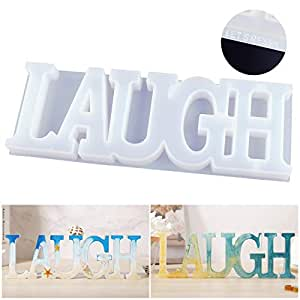 LET'S RESIN Laugh Mold, Resin Silicone Molds, Good Gift Idea to Creating A Unique Resin Project for Your Friends and Family Members, Thank You Card Included