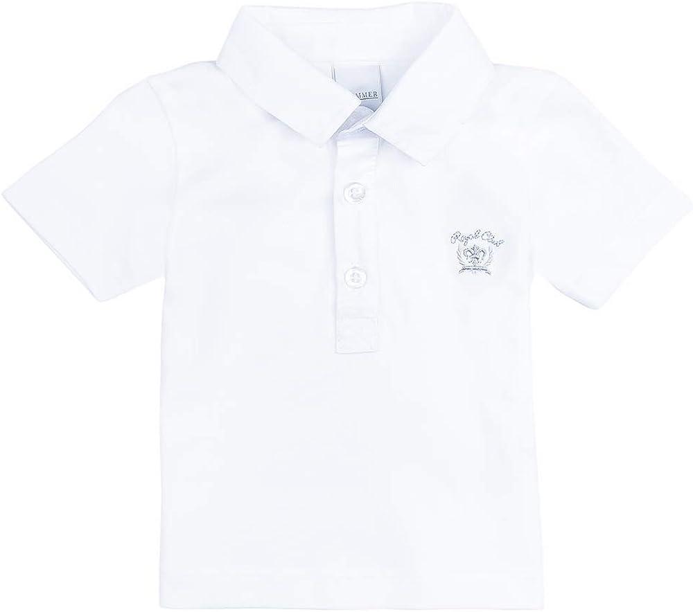 Stummer Celebration Baby Boys Neonato Ragazzi T-Shirt Polo Bianco