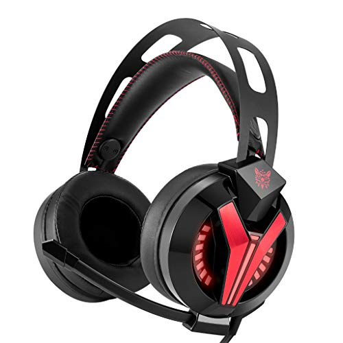 WANG XIN Computer Esports Gaming Headset Wearing Illuminating Anti-Noise Subwoofer Headphones