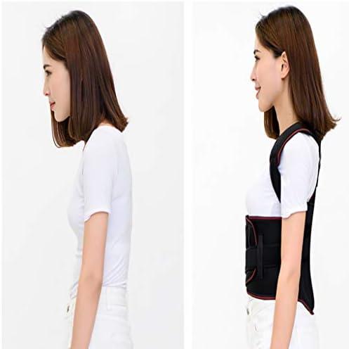 バックサポートベルト ザトウクジラ修正ベルト 曲げ位置座位脊椎修正 肩サポート付き背中修正 (Color : Black, Size : S)