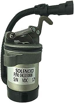 04103808 12V Fuel Shutoff Solenoid 0410 3808 for Deutz F3L F3M F4L F4M 1011 2011