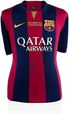 Iconos Tienda Unisex icaibs12 Frontal Andrés Iniesta Firmado Barcelona 2014 – 15 Camiseta con UCL Final Texto, na: Amazon.es: Deportes y aire libre