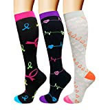 Compression Socks For Men & Women - 3/6 Pairs - Best Sports Socks for Running,Nurses,Sports,Flight Travel- 20-25mmHg
