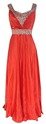 Eyekepper Juniors & Seniors Long Satin Formal Dress Evening Party Gown