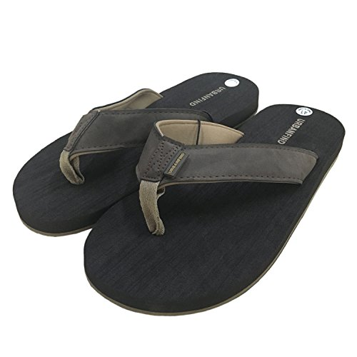 Sandals On Slippers Slide Flops Suede Canvas Men's Flip Brown Flat URBANFIND Thong nxBqXOwRS