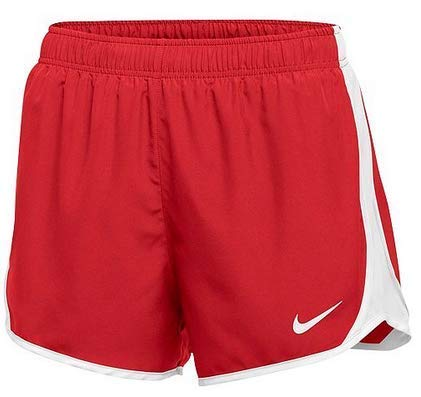Nike Women Dry Tempo Running Shorts - Red - Large by Nike