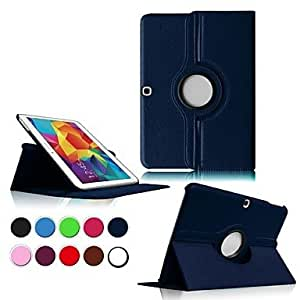 TOPQQ ships in 48 hours sold out 360 Degree Rotatable Leather Case for Samsung Galaxy Tab4 10.1 T530 (Assorted Colors) , Red