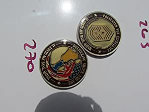 Presented for Excellence Al Udeid AB Command Chief Master Sgt. Challenge Coin
