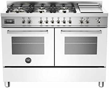 Bertazzoni Cocina Professional pro1206gmfedvit 120 cm 2 Hornos Bianco: Amazon.es: Hogar
