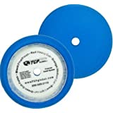 "8"" Blue Medium Foam Grip Pad Light Cut Polish Buff - Hook & Loop"