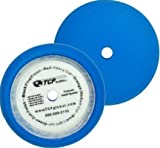 TCP Global Brand 8'' Blue Medium Foam Grip Pad Light Cut Polish Buff - Hook & Loop