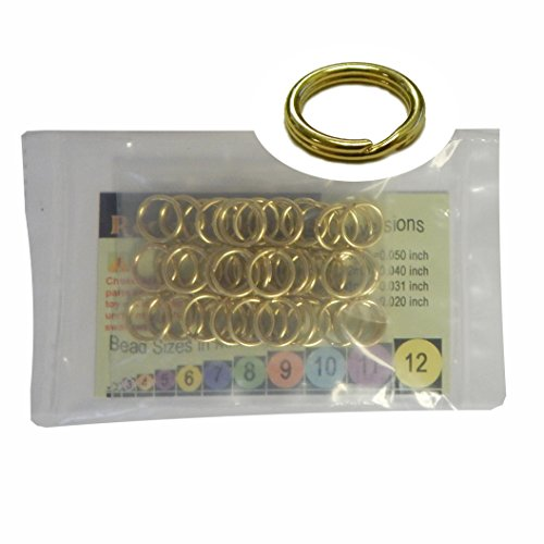 - 48 Split Ring Fishing Lure, Lanyard, Dog Tag Connector Polished Brass 12mm Made in the USA