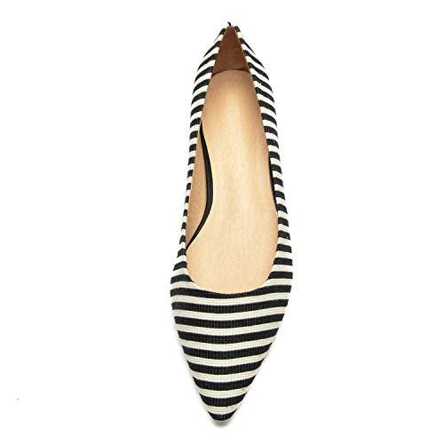 Mujeres Planas del OtoñO 36 De Planas Las Toe Chunky YC L A Size Closed SatéN Boda De Flat del 43 Zapatos La Bridesmaids 7w0pP
