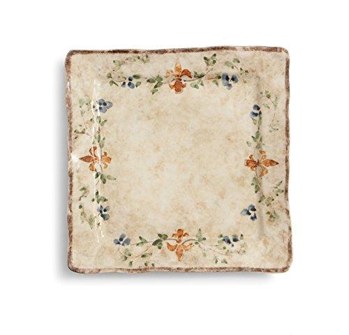 (Arte Italica Medici Square Dinner Plate, Cream)