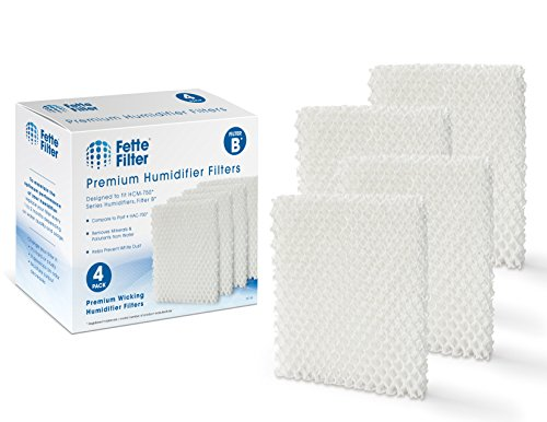 Fette Filter - Humidifier Wicking Filters. Compatible with Honeywell HAC-700, HAC-700V1, HAC700PDQV1, Filter B - 4 Pack