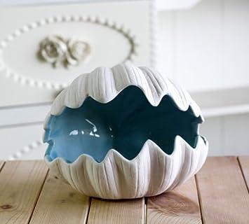おしゃれ 真っ白な シェル型 マリンテイスト オブジェ アクセサリーケース 陶器製