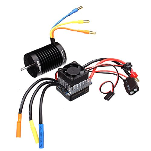 Price comparison product image Quickbuying Racerstar 3650 4370KV Waterproof Brushless Motor 45A ESC For 1/10 Buggy 1:10 Racing Cars