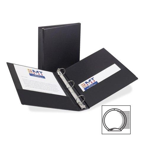 Wholesale CASE of 25 - Avery Economy Reference/Storage Binders-Economy Ring Binder, 1-1/2'' Capacity, 11''x8-1/2'', Black