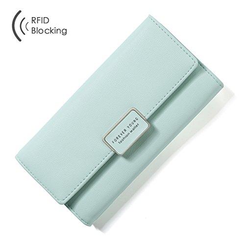 Price comparison product image Aoliner Women RFID Blocking Multi Card Organizer Wallet for women Purse