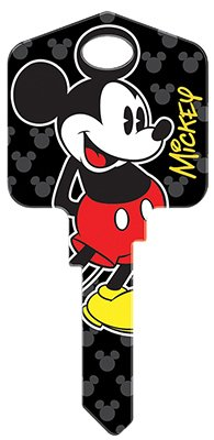 (Hillman Fasteners 87625 Disney Key, KW1 Mickey Mouse Painted Key Blank)
