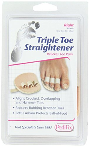 PediFix Triple Toe Straightener, Right Foot
