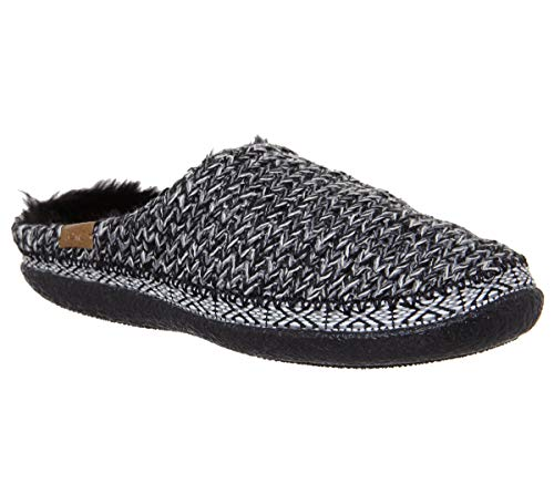 - TOMS Women's Ivy Wool Slipper (8 B(M) US, Black and White Sweater Knit)