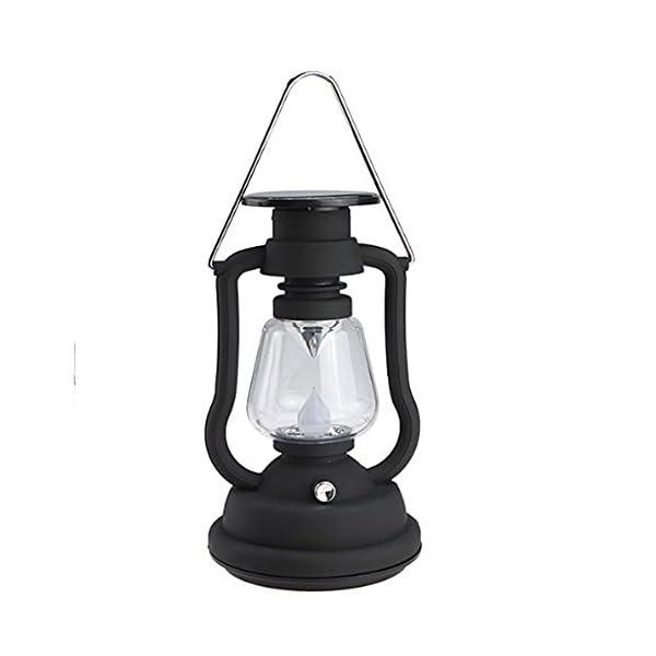 41%2BUi2Fd0PL. SS600  - AGPtek® Solar Power Lantern Antique Light Lamp 7 LED Garden Light Lamp Black