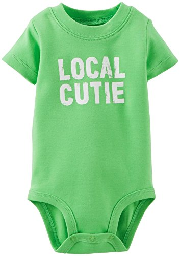 Carter's Baby Boys' Slogan Bodysuit, Green, 3 Months ()
