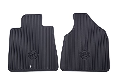 General Motors GM Accessories 22890024 Front All-Weather Floor Mats in Ebony with Deep Rib and Tri-Shield (Logo Rib)