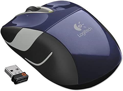 Compact Logitech 910002698 M525 Wireless Mouse Blue Right//Left