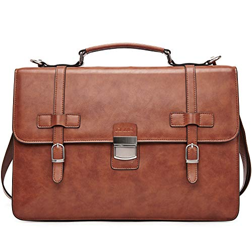 Leather Briefcase Business Messenger Shoulder product image