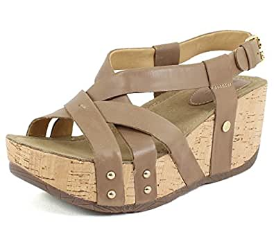Bussola women 39 s fay formentera brown oil leather sandals for Bussola amazon